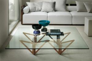 Оригинальная стеклянная мебель в интерьере