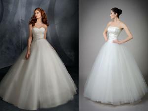 Кому подойдет вариант со свадебным платьем классического фасона?