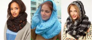 Как правильно носить шарф снуд?
