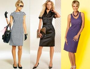 Самые популярные модели деловых платьев
