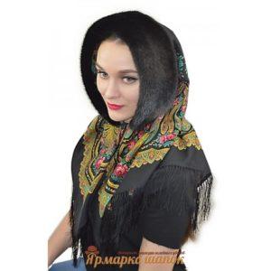 С чем носить павлопосадские платки с мехом