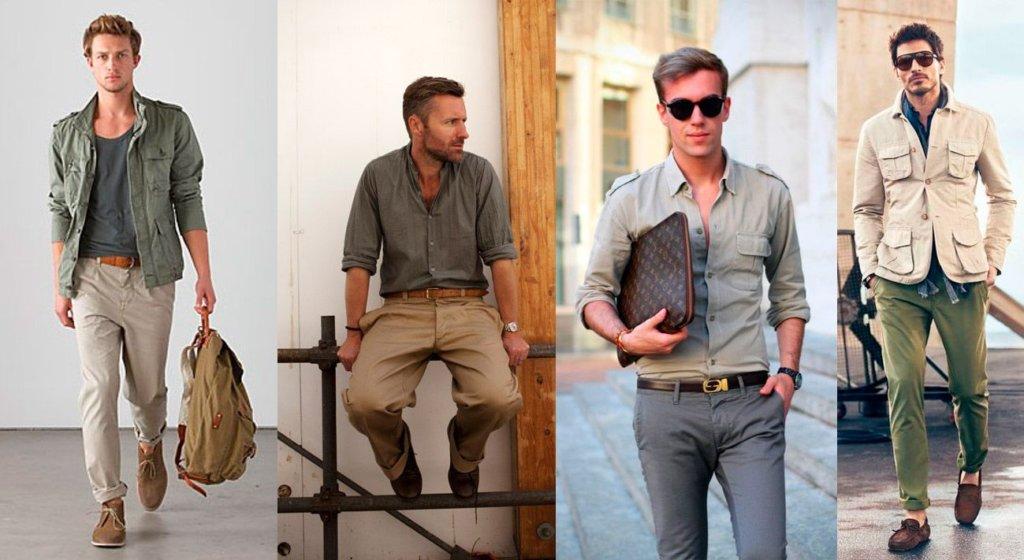 Мужская Сафари-куртка стиль современного мужчины