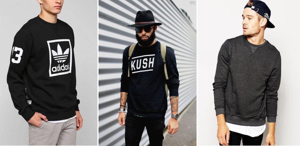 Свитшот как современный элемент мужского гардероба