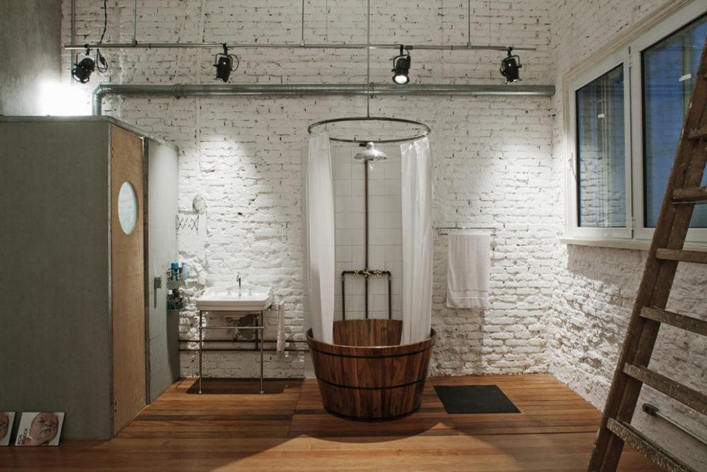 Примеры выбора сантехники для ванной: стиль лофт